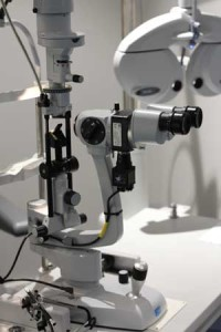 slit lamp eye examination