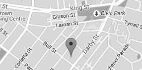 Map location of Custom Eyecare optometrist Newcastle