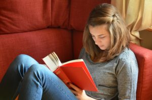 orthokeratology - teenager reading