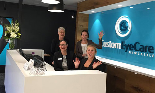 staff at custom eyecare optometrist