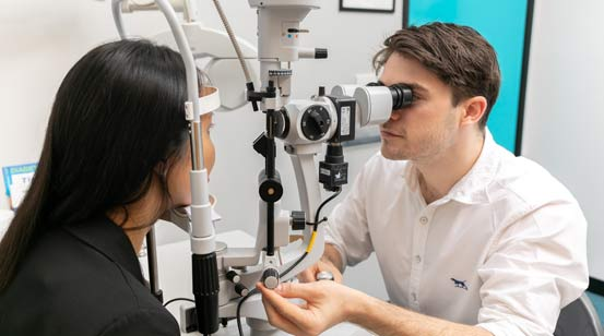 General eye tests at optometrist Newcastle